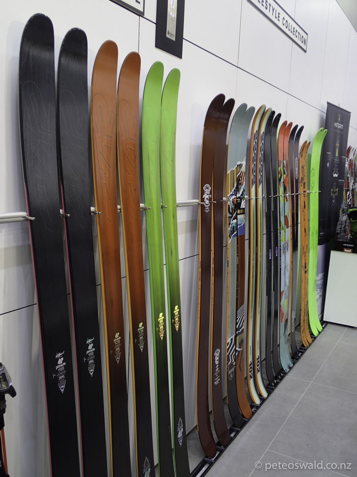 "2015/2016 line up of the beautiful  K2 Skis  range! The new ""Pinnacle"" freeride ski is the business"