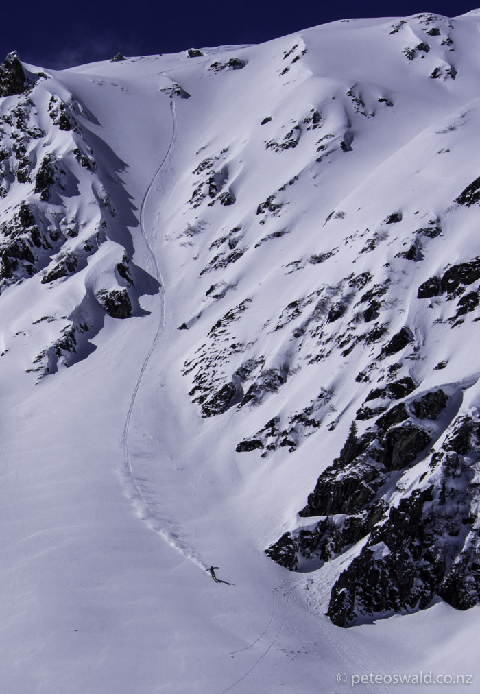 Straight line fun on the FWQ 4* comp face in Hochfugen, Austria. Photo: Charlie Lyons