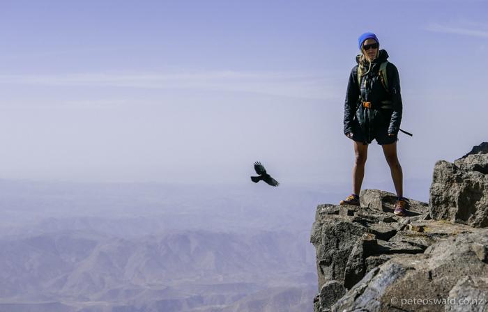 Soph bossing the summit!