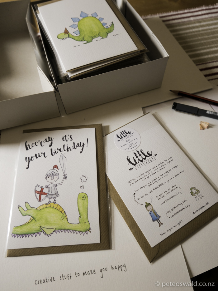 The finished box of samples, we signed up 13 retailers with these little gems!