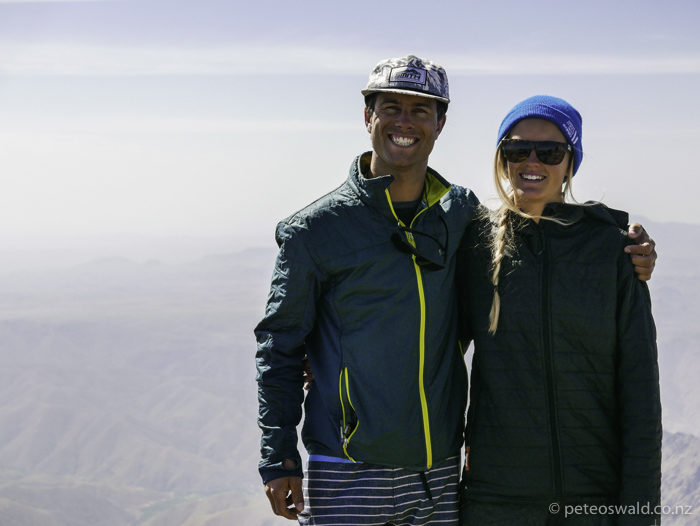 Soph and I on the top 4,167m, the Sahara Desert in the background. Photo: some lovely random