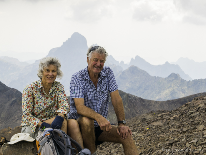 Mum and Dad a the Monte Cintu saddle (2,604m), super good feat!