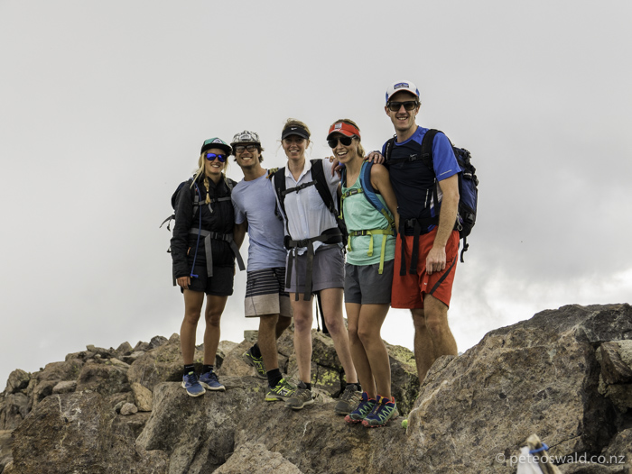 A group shot of the summiteers, L-R: Soph, myself, Harry, Alice and Will
