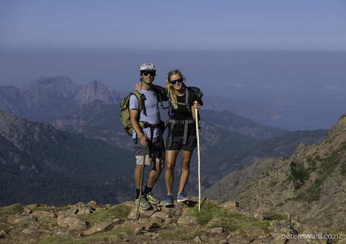 Soph and I on the last day with the Mediterranean Sea in the background. Photo: Harry Oswald… or maybe Will