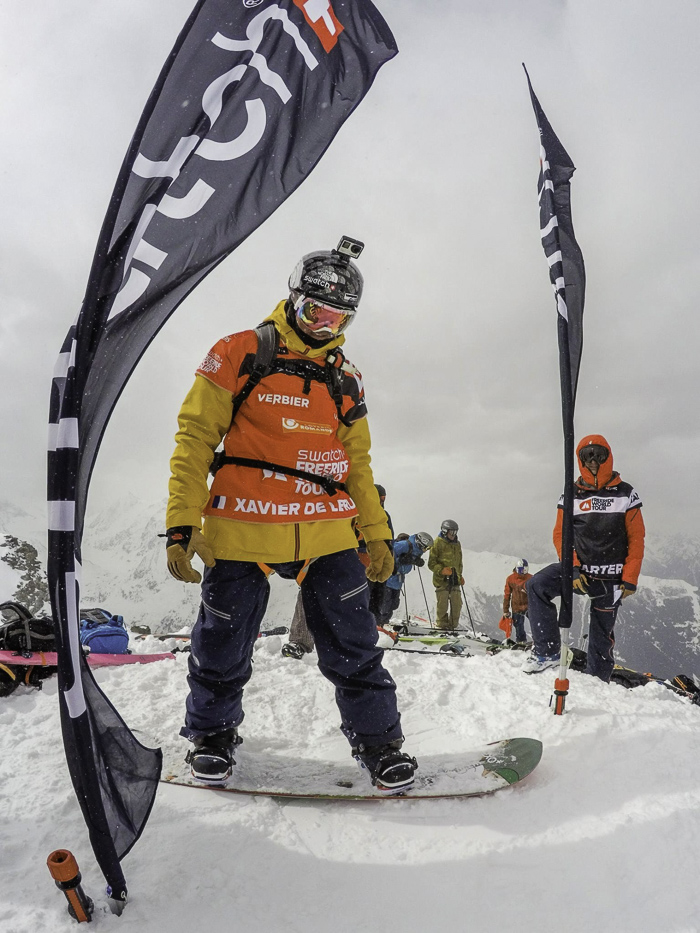 Past winner of the Vieber Xtreme and  Hexo+ Drone co-founder Xavier De La Rue about to drop into 3rd place
