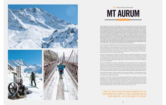 NZ Skier Magazine - Mt Aurum, First Descent