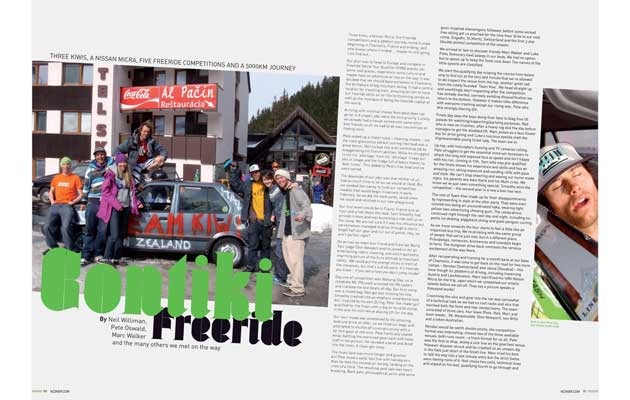 NZ Skier Magazine - Contiki Freeride