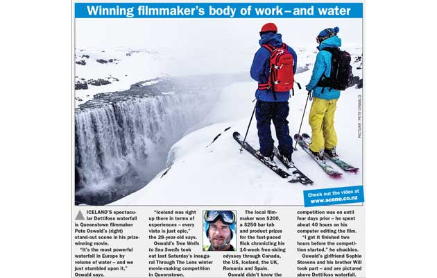 Mountain Scene Newspaper - Film Competition Winner