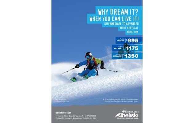 NZ Skier Magazine - Southern Lakes Heliski Ad