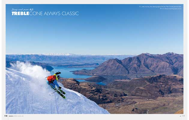 Snow Action Magazine - Treble Cone Ad