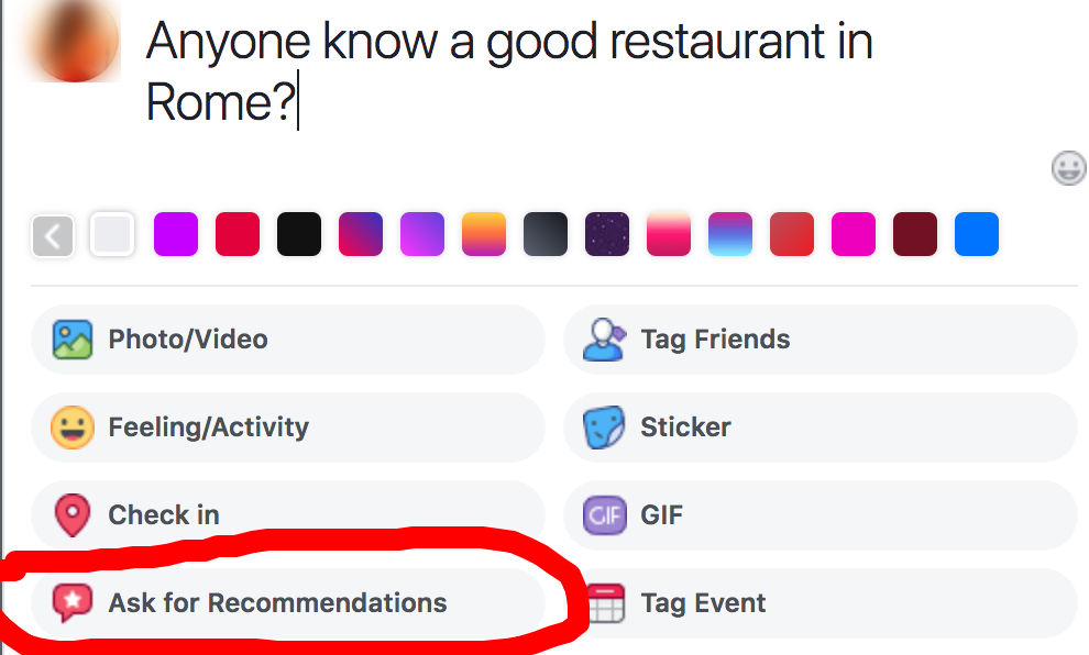 These recommendations now count as facebook page ratings, automatically!