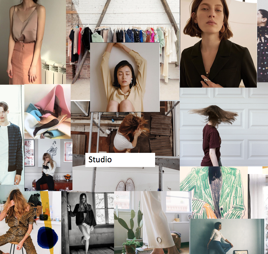 Mood board example for the planning of a content photoshoot. Visit the gallery