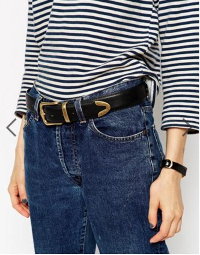 ASOS, ASOS Tipped Jeans Belt in Water Based PU, $16.00