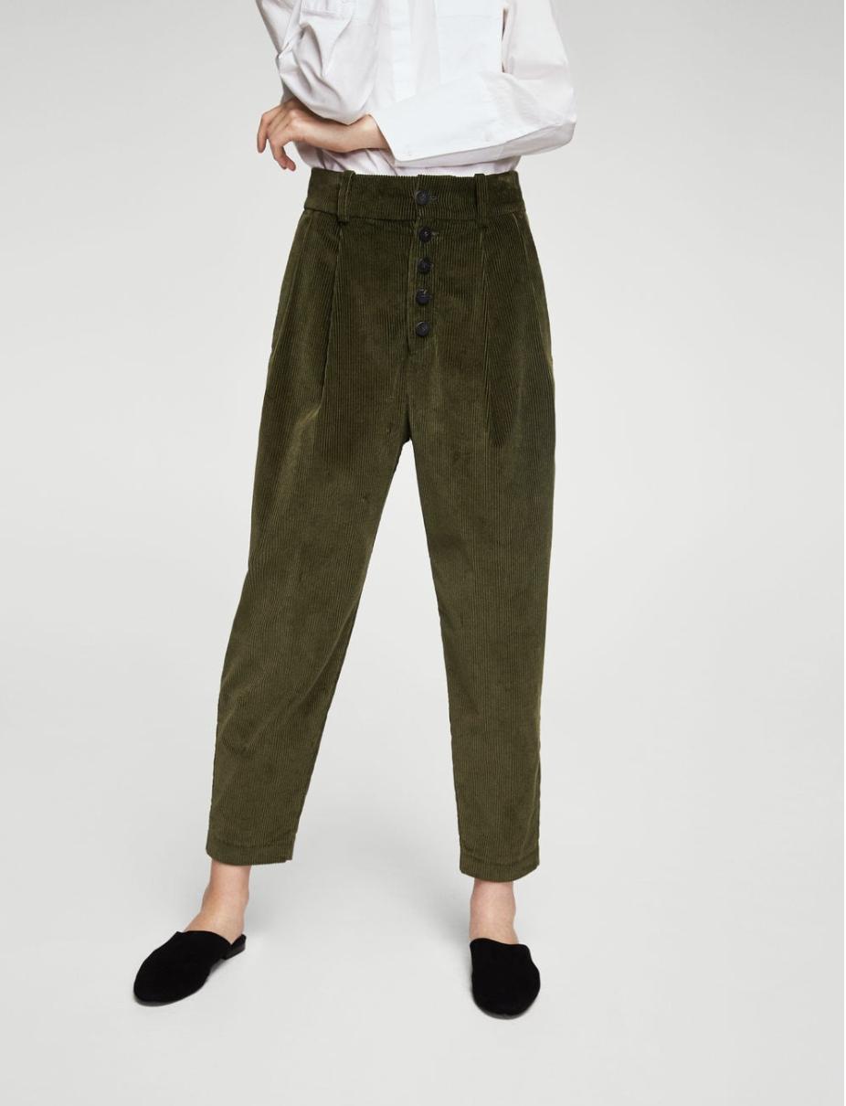 Mango, pleated corduroy trousers, $99.99