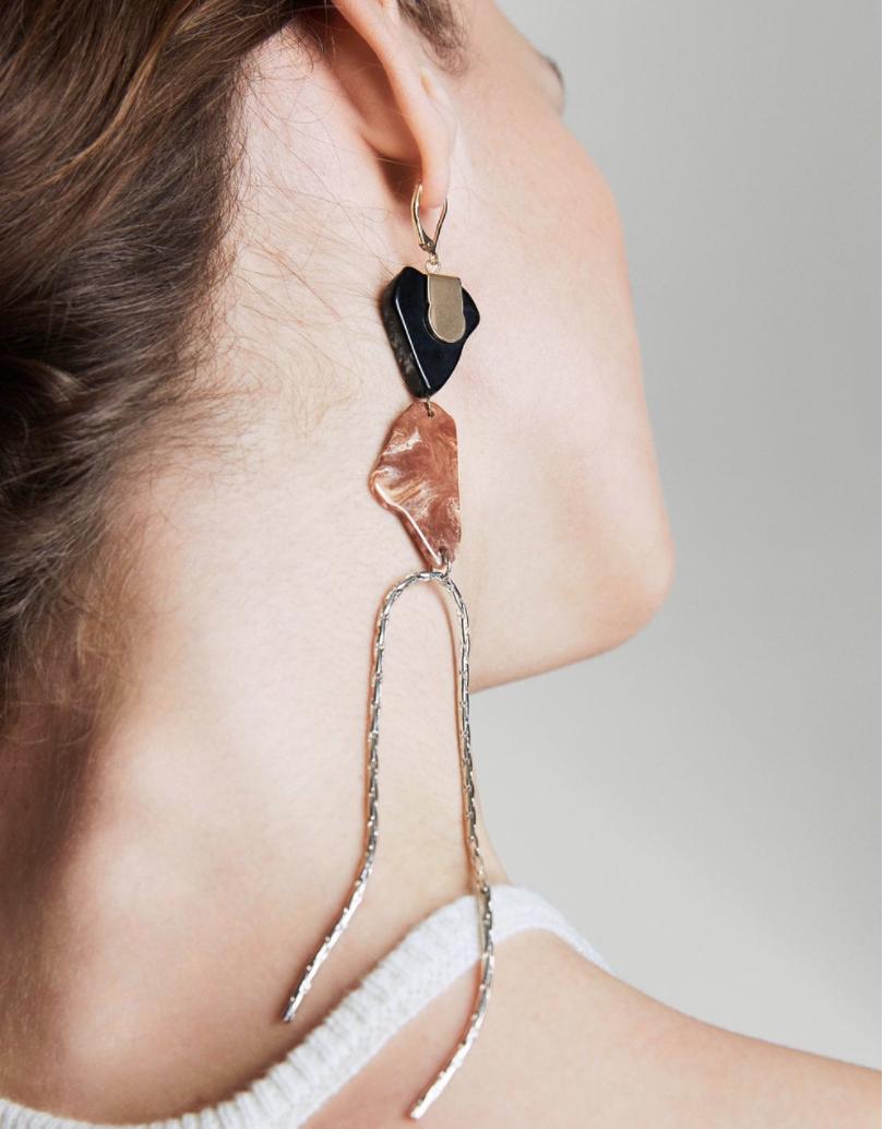 Mixed Asymmetric Earrings - Mango