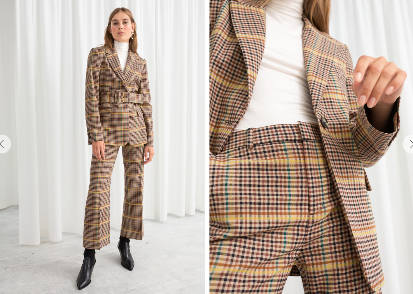 & Other Stories Plaid Suit