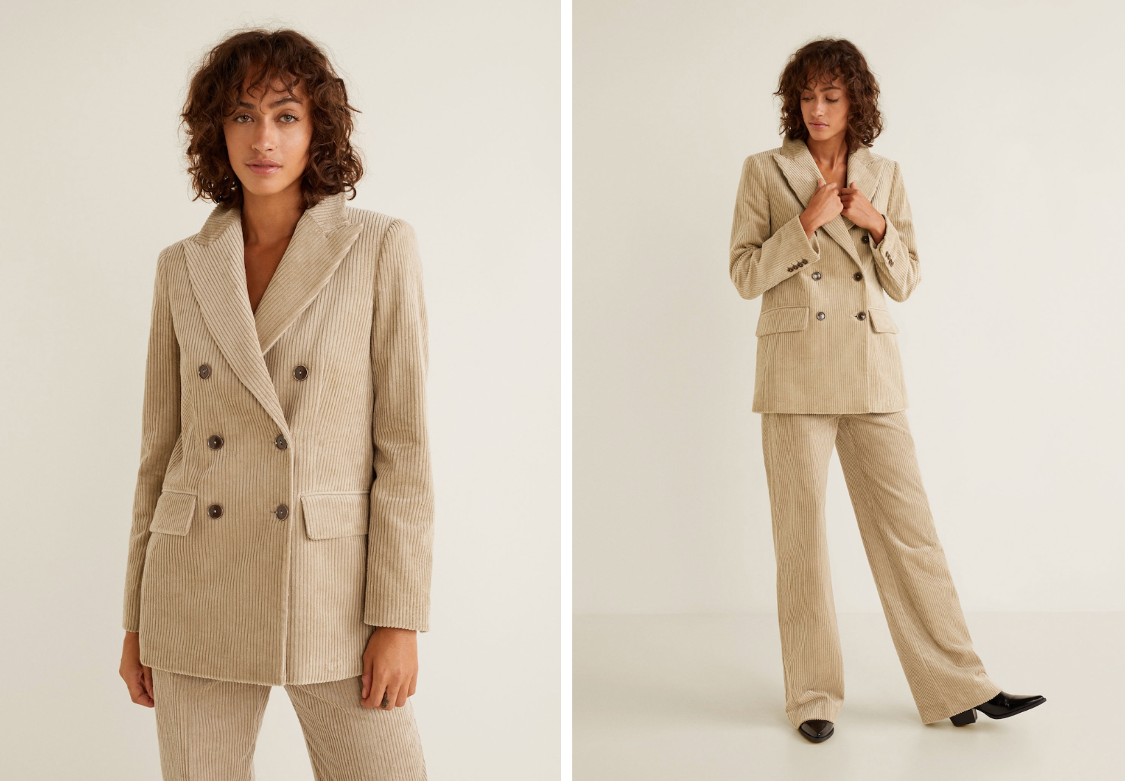 Mango Corduroy Structured Suit