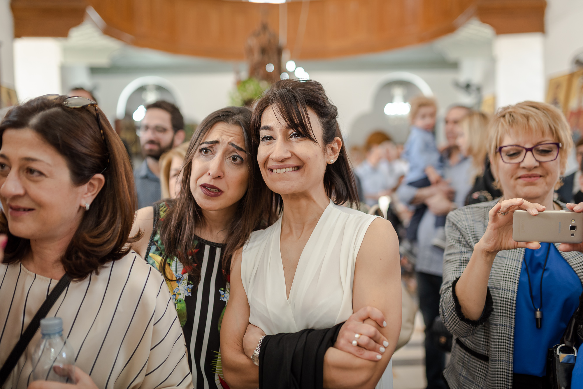 Christening cyprus βαπτιση  κυπρος guests funny faces.jpg