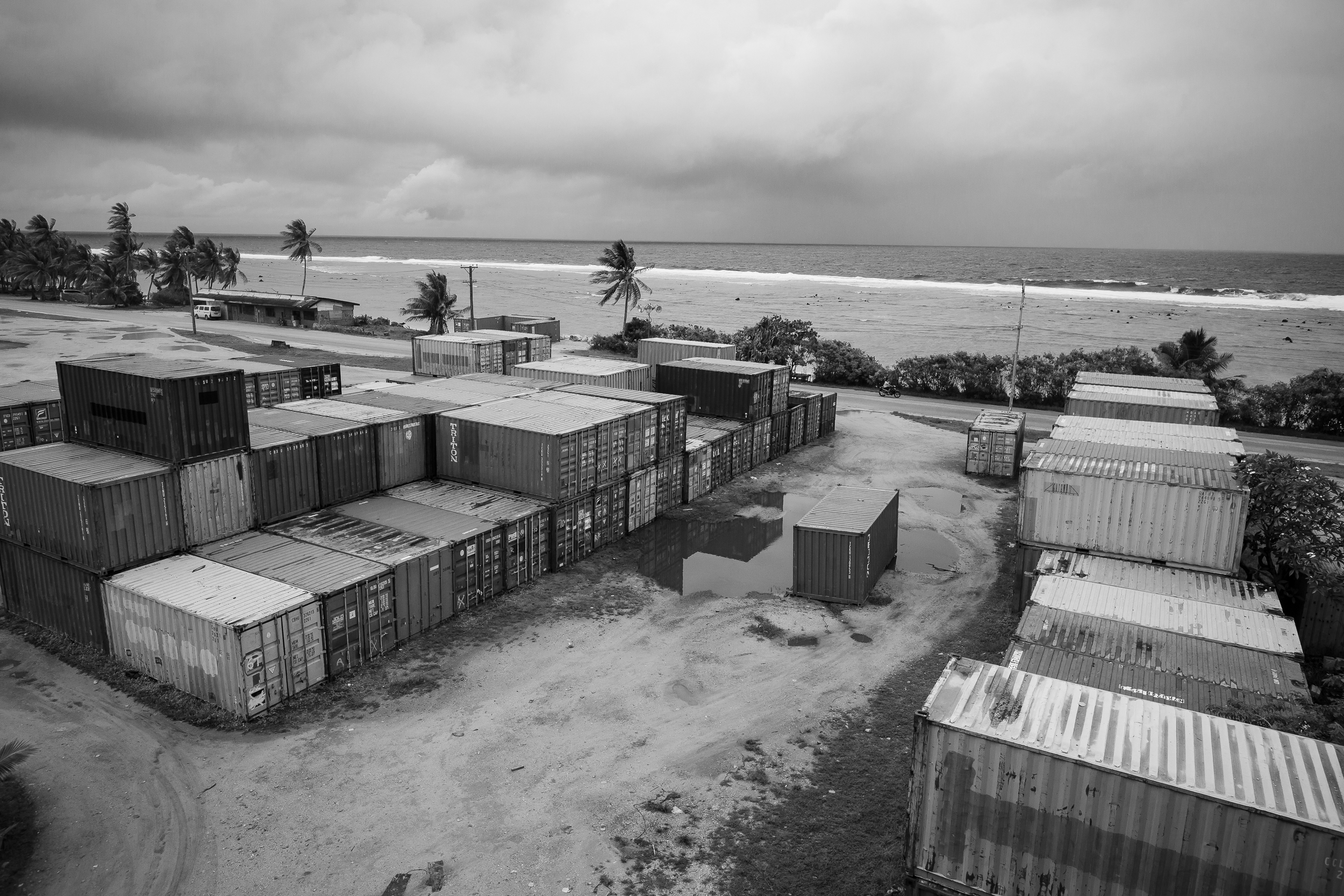 With no natural resources except the scant remaining phosphate, Nauru must import virtually everything. From food and water, to clothing and Harley Davidsons, the country is littered with empty shipping containers used to import goods.