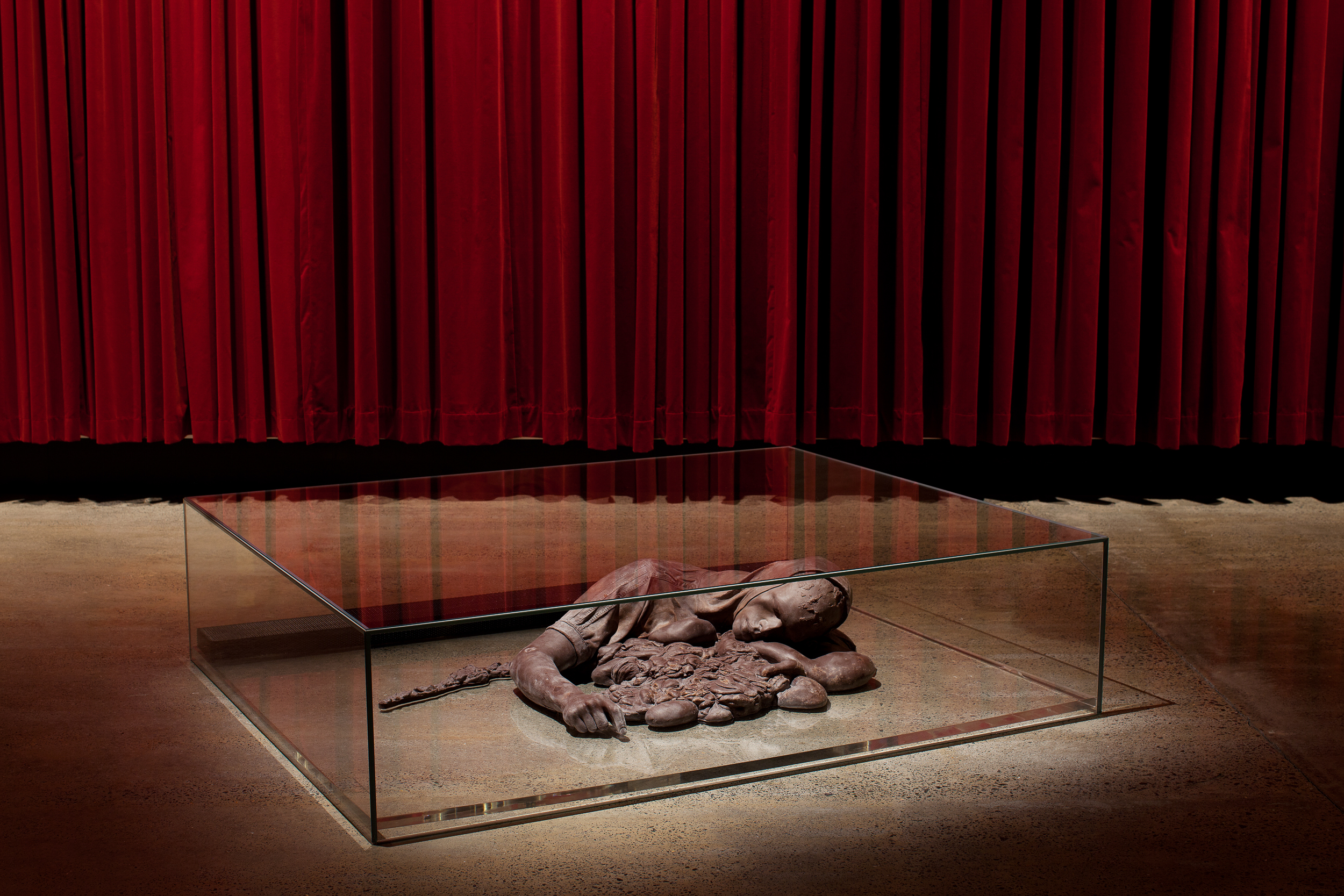 On the Road to Heaven The Highway to Hell 2008  Stephen J Shanabrook (1965, Cleveland, OH, USA; lives and works in New York, NY, USA and Moscow, Russia) Remnants of the suicide bomber cast in dark chocolate, edn 2/5