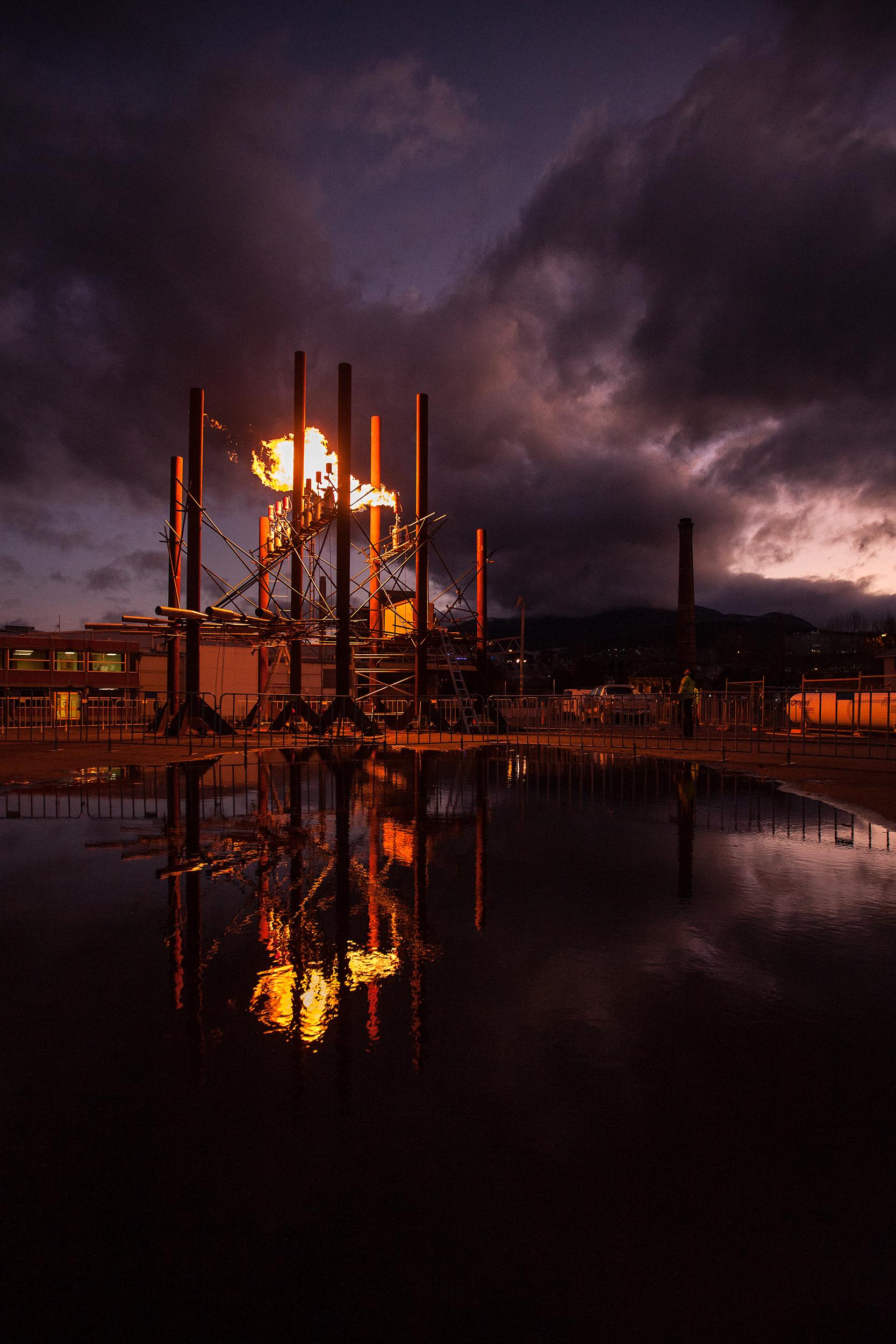Fire Organ  Bastiaan Maris  Commissioned for Dark Mofo, 2015