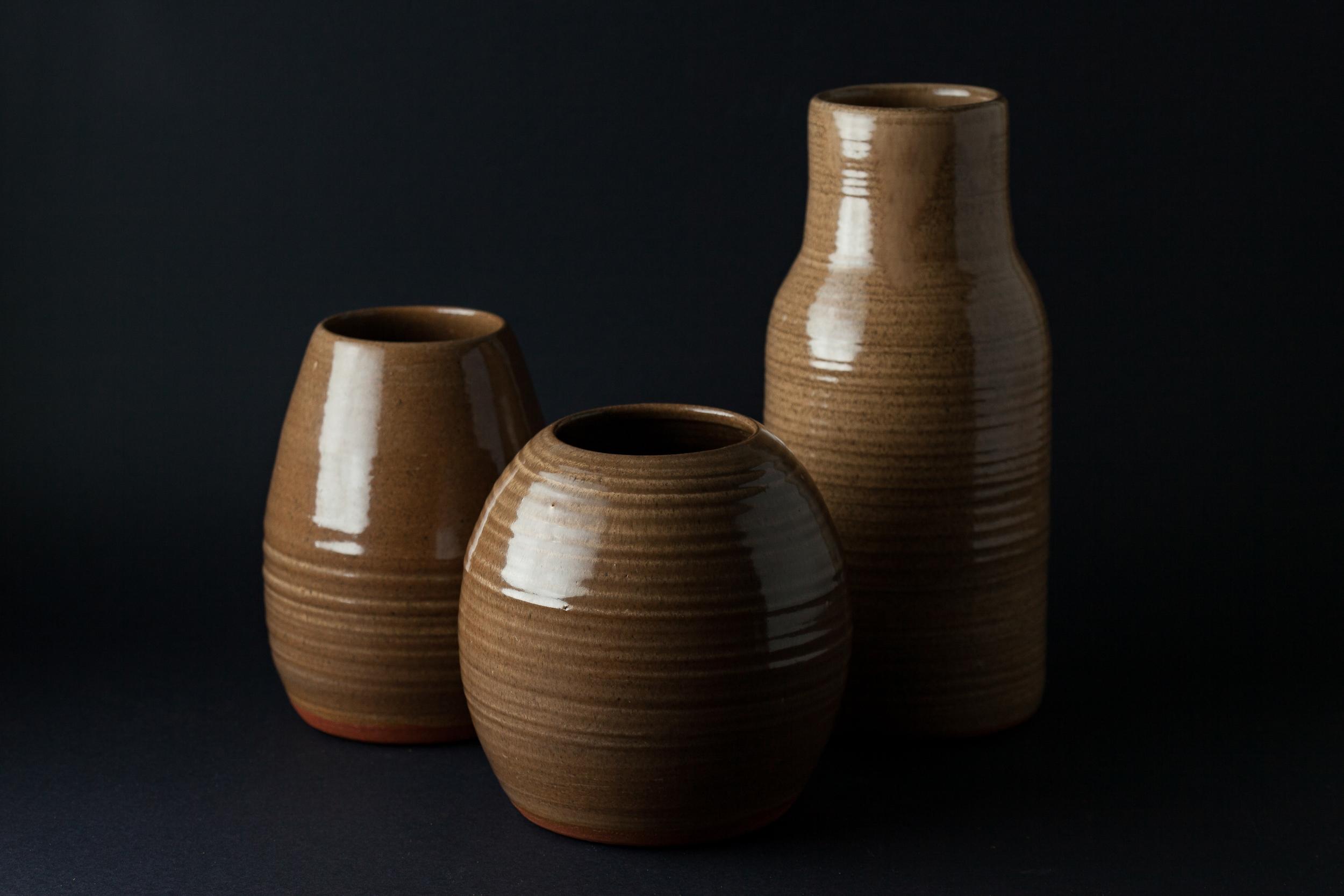 Various earthenware vases 2016  Georgie Vozar (Born 1992, Nambour, Australia)