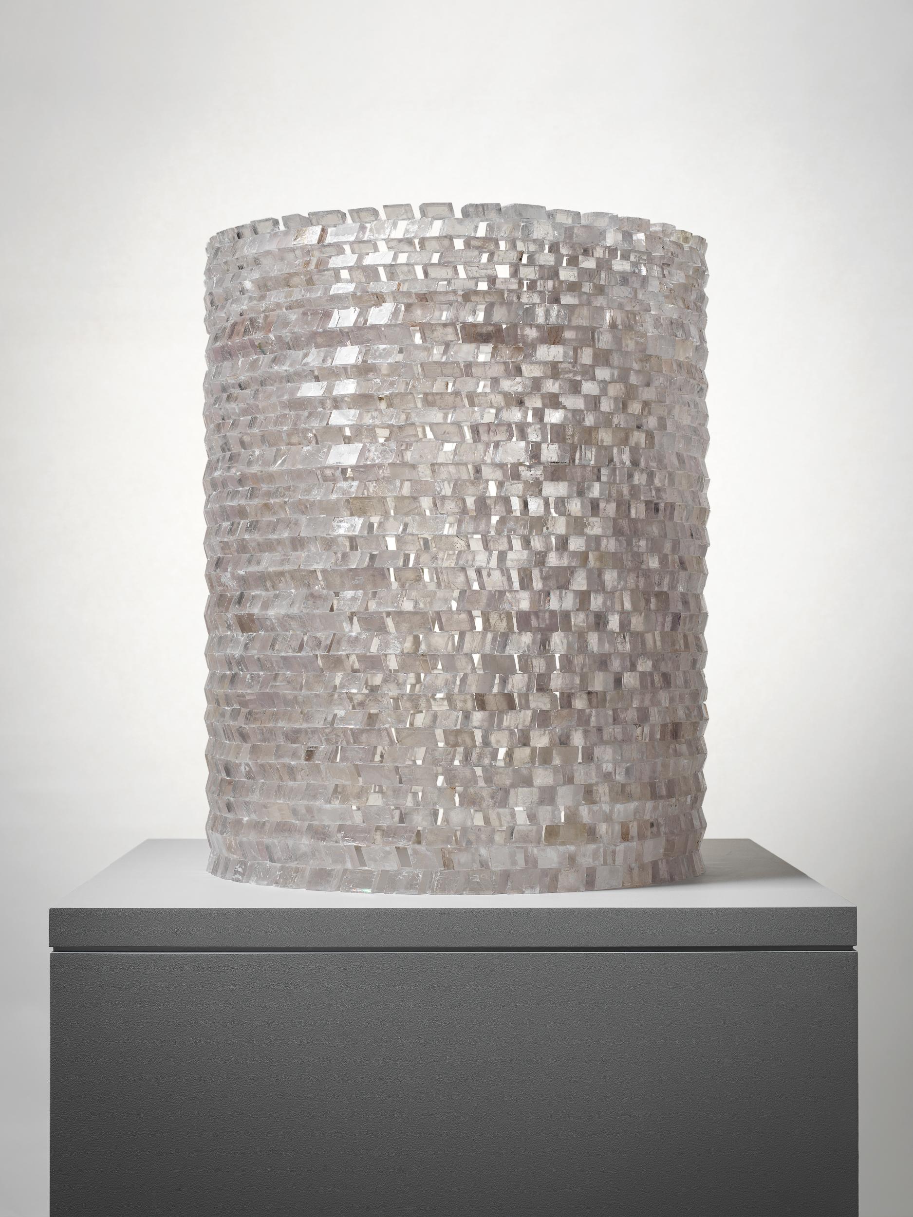 Sans titre (Untitled) 2008  Hubert Duprat (Born 1957, Nérac, France; lives and works in southern France) Iceland spar (calcite crystals), glue