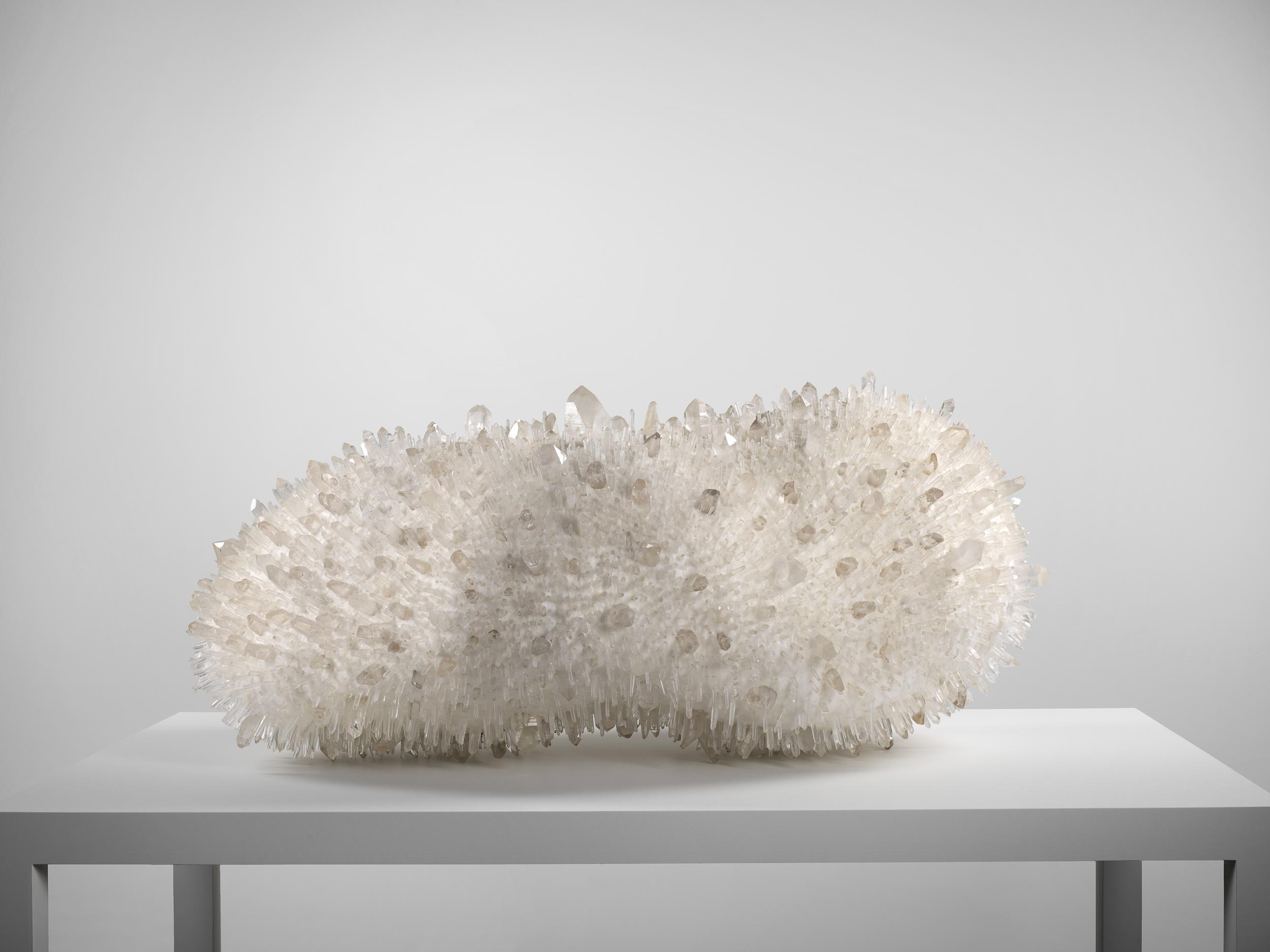 Sans titre (Untitled) 2000  Hubert Duprat (Born 1957, Nérac, France; lives and works in southern France) Paraffin wax and quartz crystals