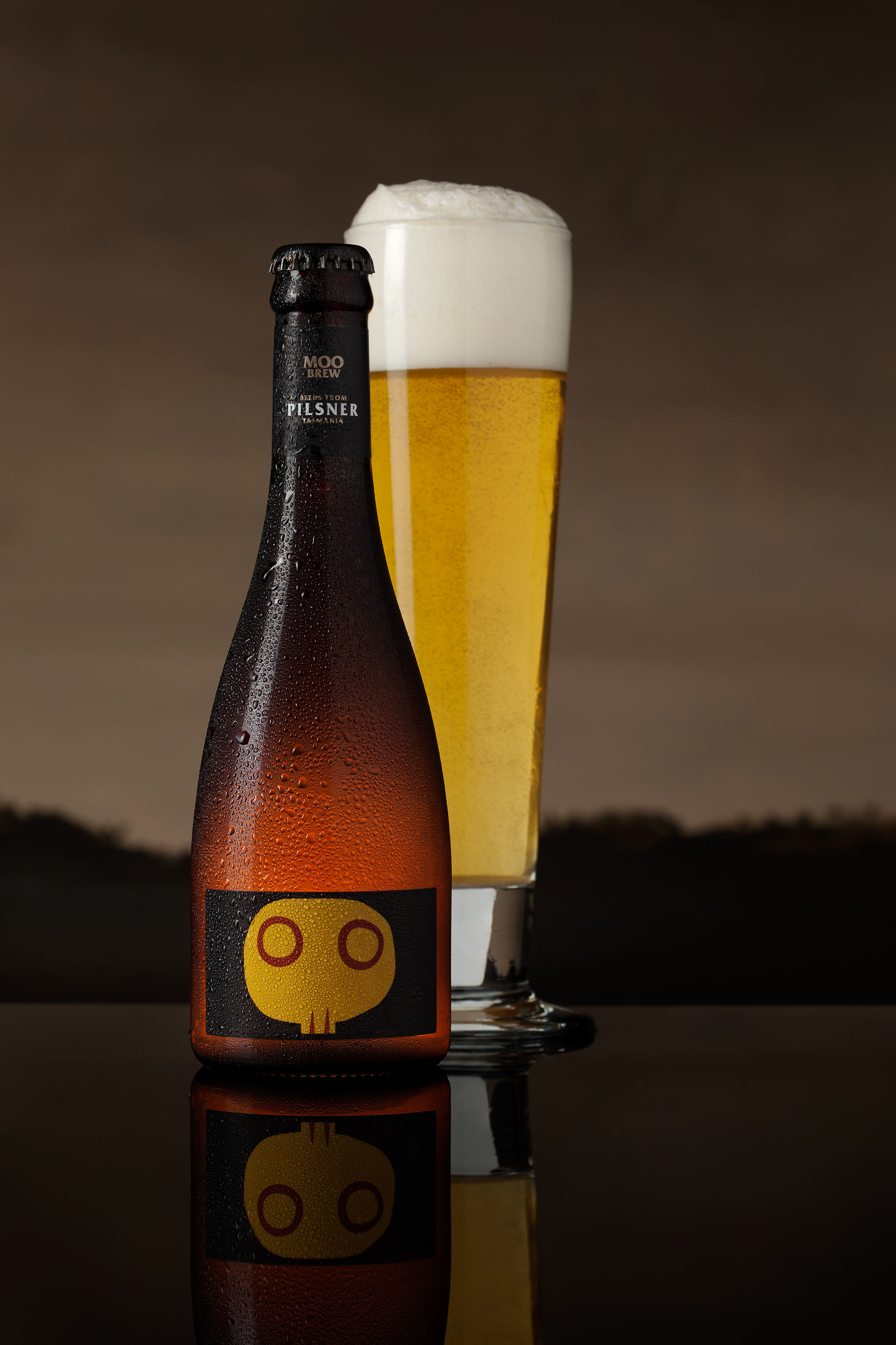 Branding hero image of the Moo Brew pilsner