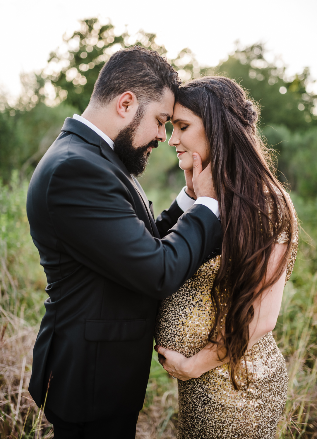 Romantic maternity session at park for maternity session, Katy Texas family Photographer, Richmond Texas family photographer, Sweet Nest Photography