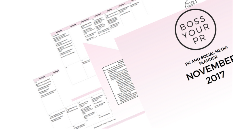 A taster of my PR & Social Media Planner - Sign up below to access this free download!