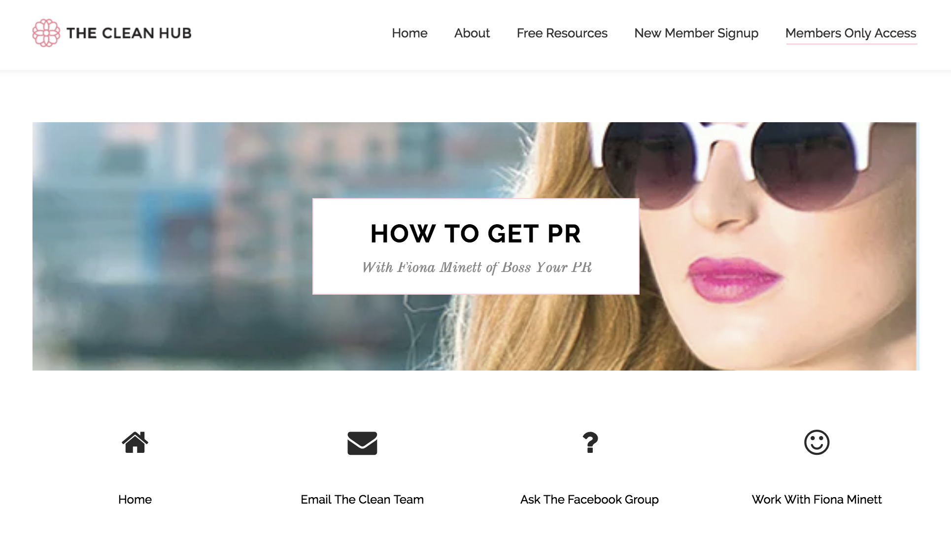The Clean Hub - Boss Your PR 'How to'