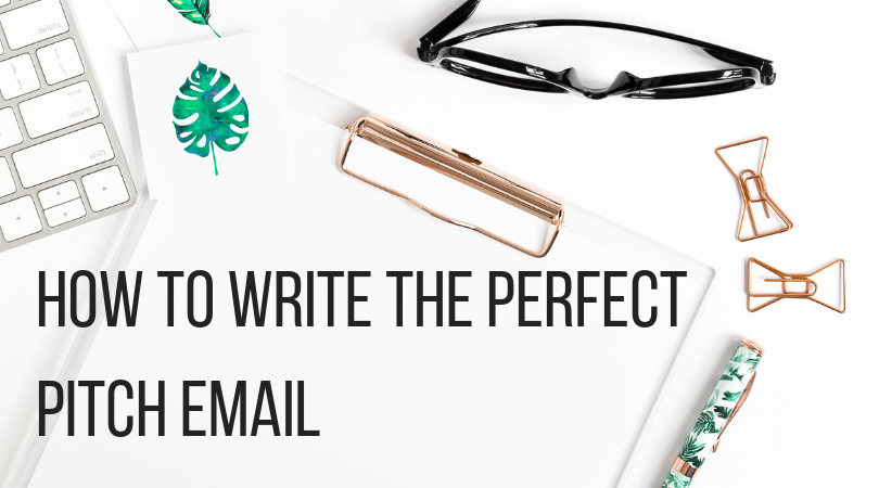 how to write the perfect pitch email