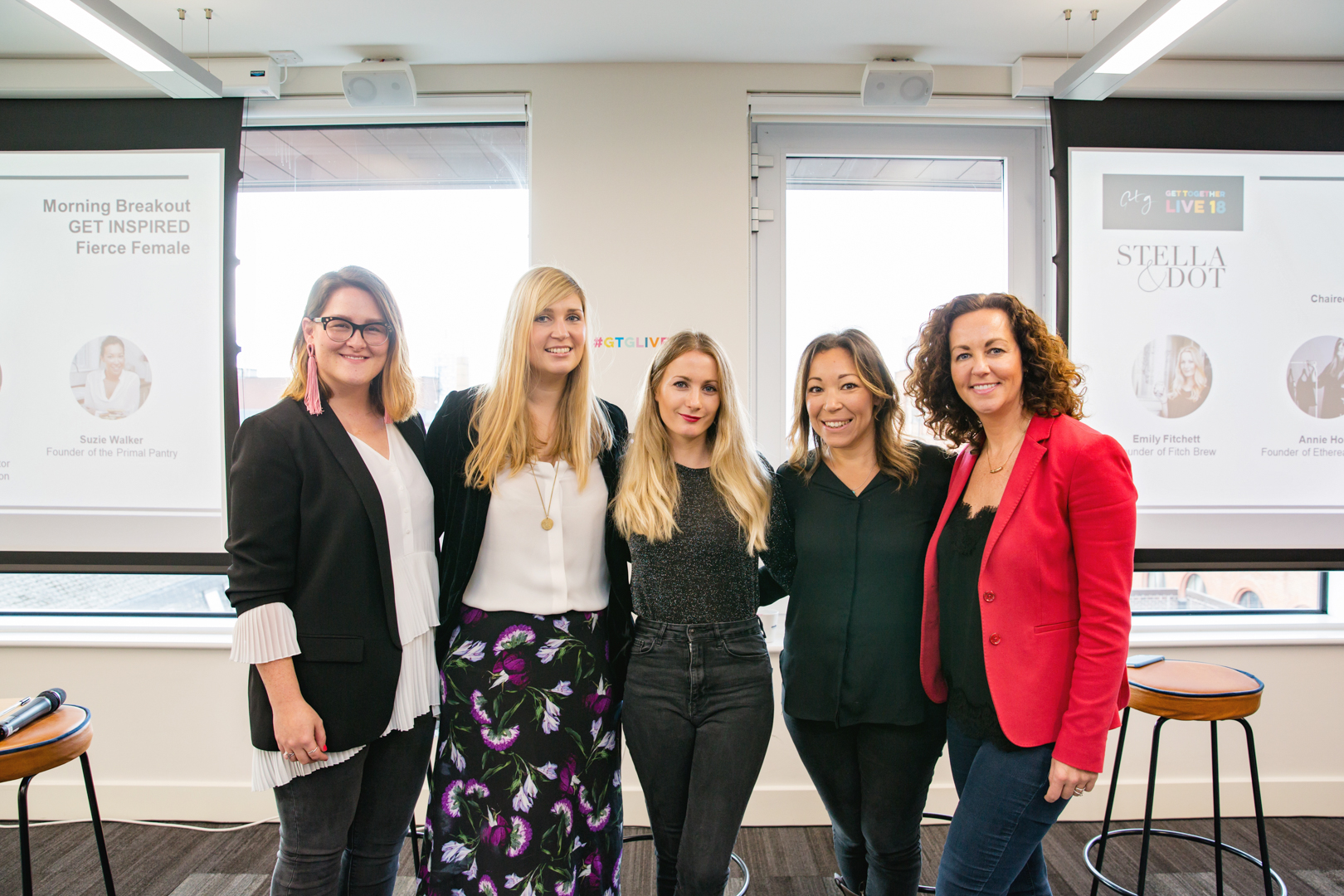 The panel for the 'Fierce Females' talk I hosted - Annie Holt, Emily Fitcham, Suzie Walker and Claire Hurst