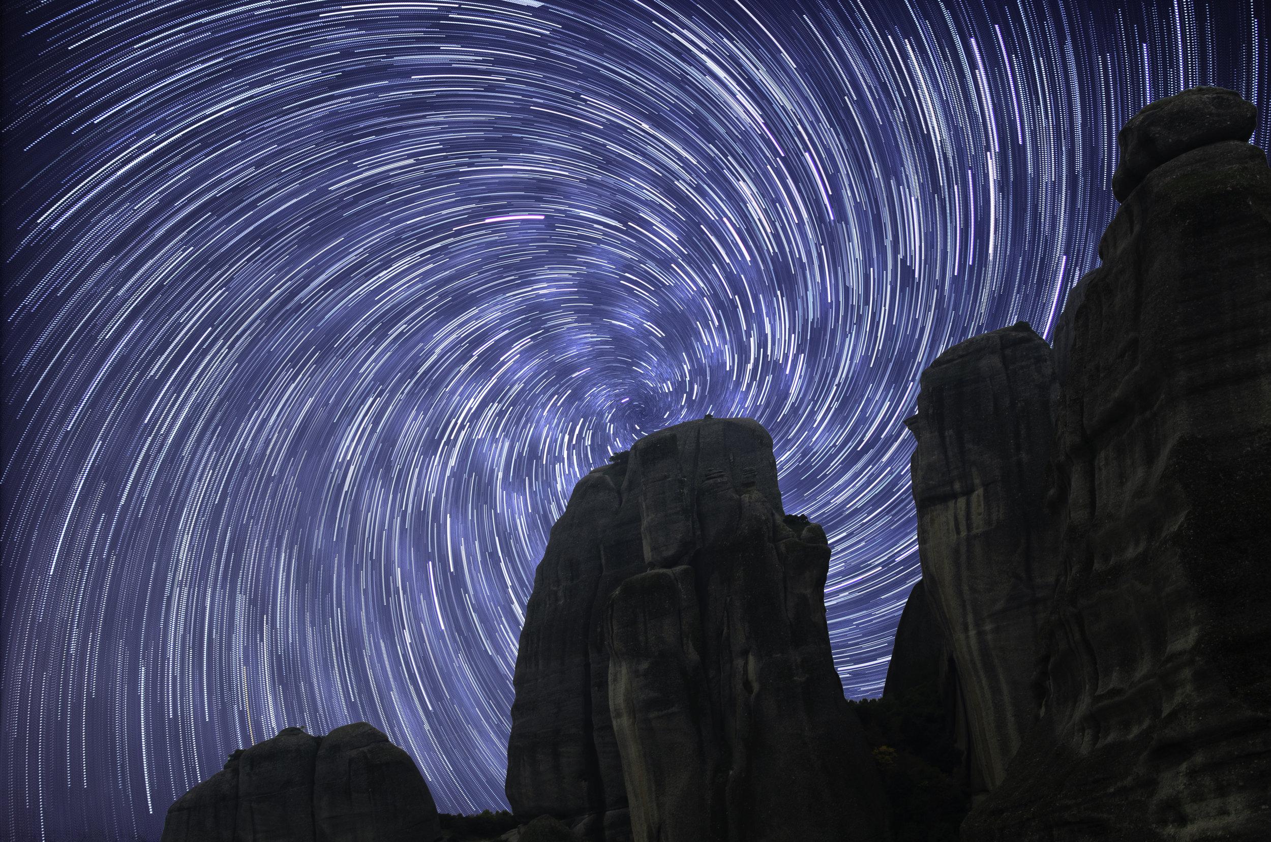Meteora Star Trails