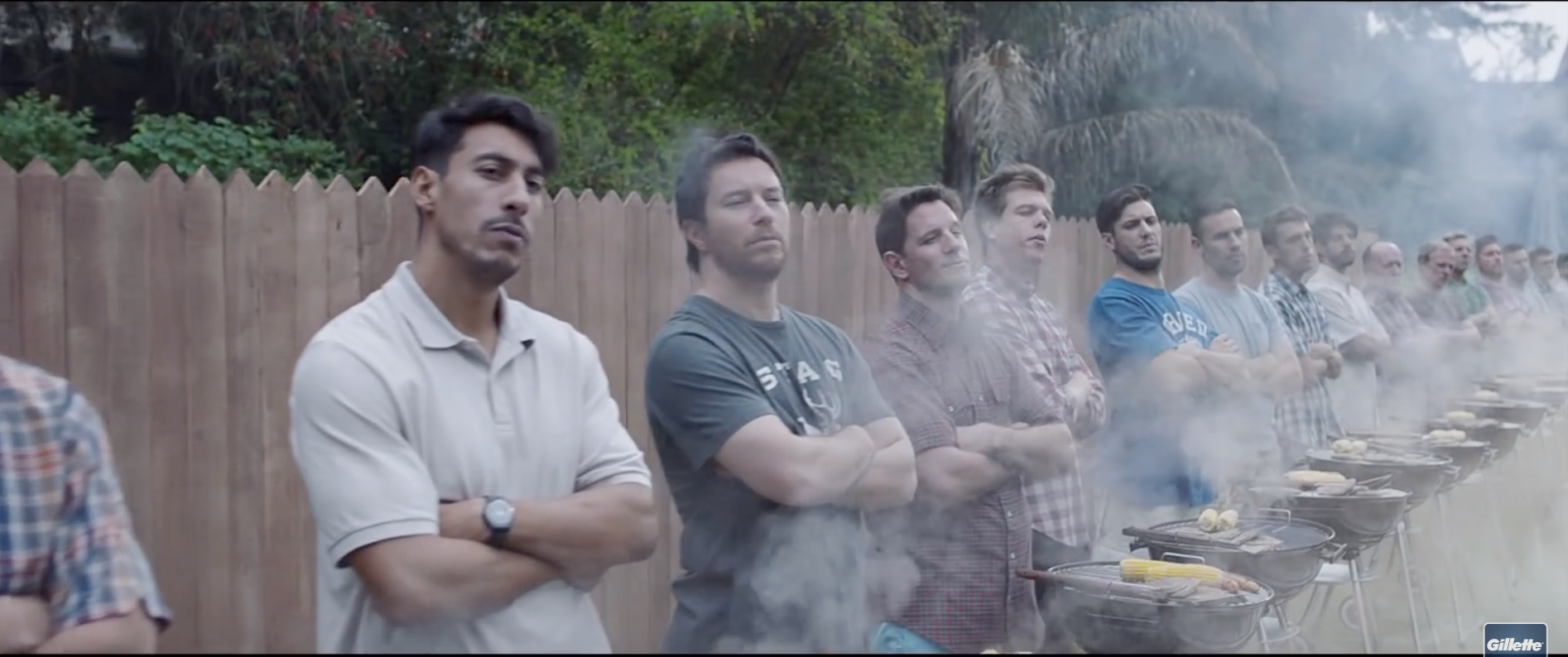 "A scene from Gillette's ad titled ""We Believe: The Best Men Can Be"""