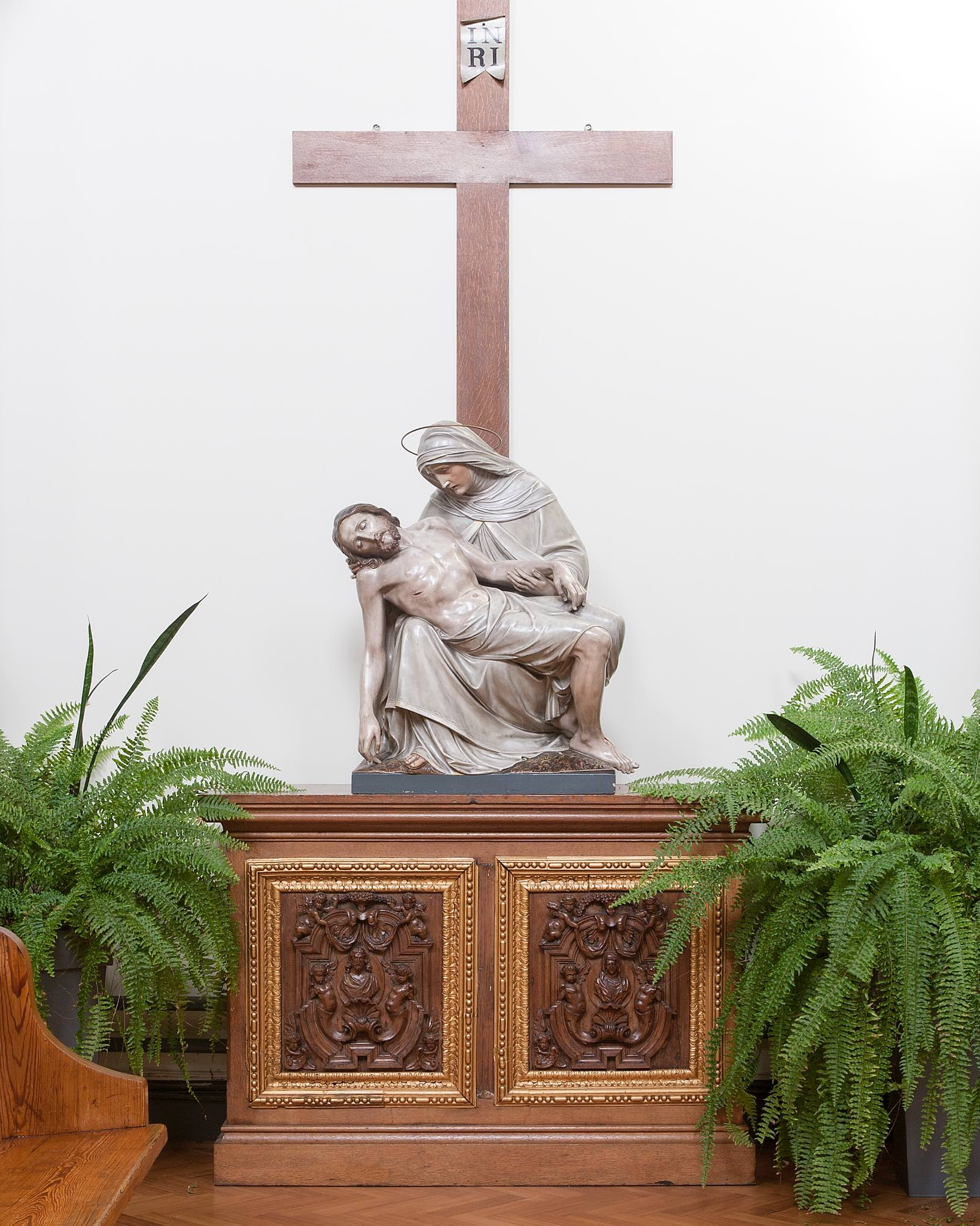 The Pieta - One of the most familiar subjects in Christian art is the body of the crucified Christ laid in the arms of his mother, Mary, the most famous example of which is that by Michelangelo, in St. Peter's Basilica.