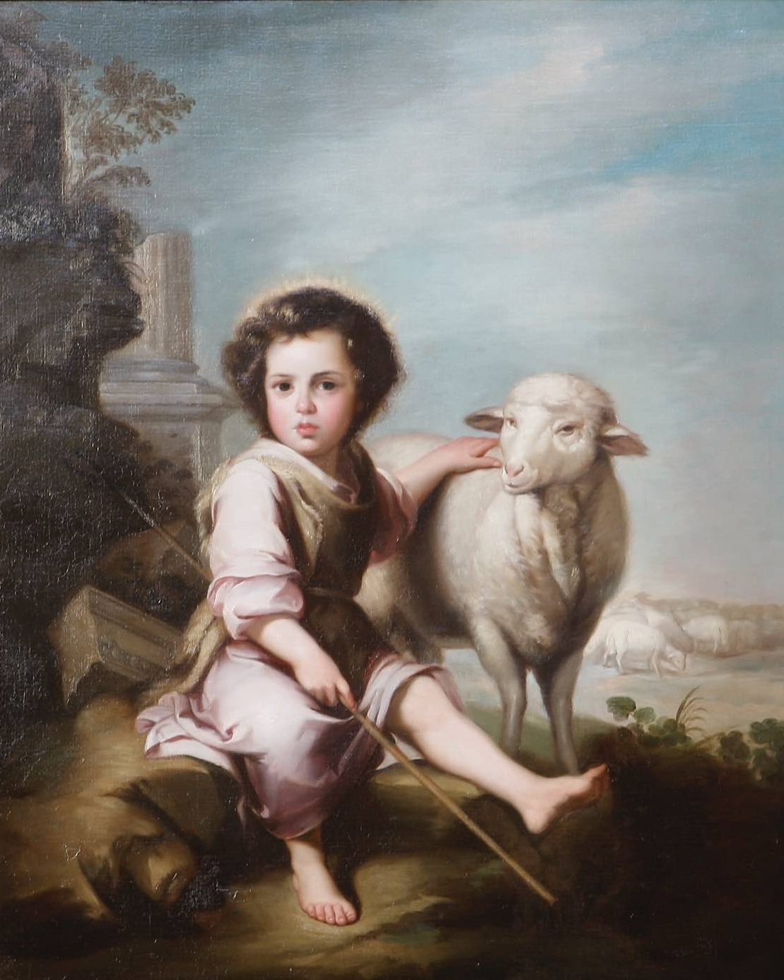 The Good Shepherd - This painting is another Murillo copy. The original hangs in the Museo del Prado in Madrid.
