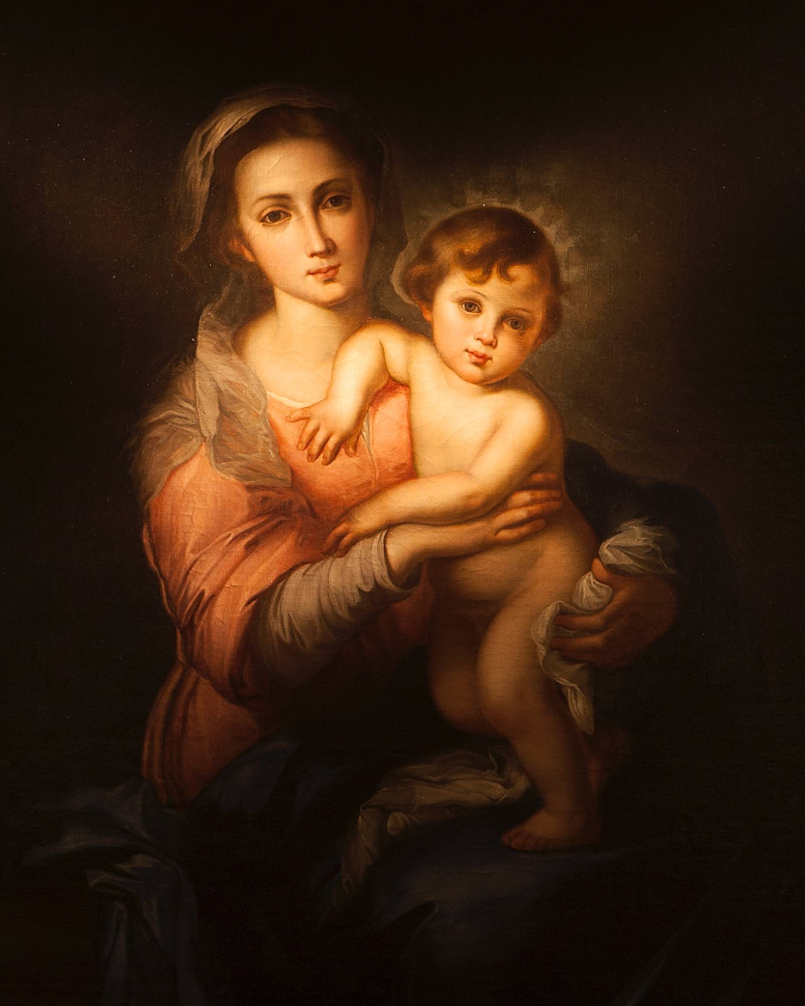 Madonna and Child - This painting, a gift of Canon de Zulueta's mother, the Countess of Torre Dias, is a copy believed to be from the school of Murillo.  The original hangs in the Galeria Corsini in Rome.