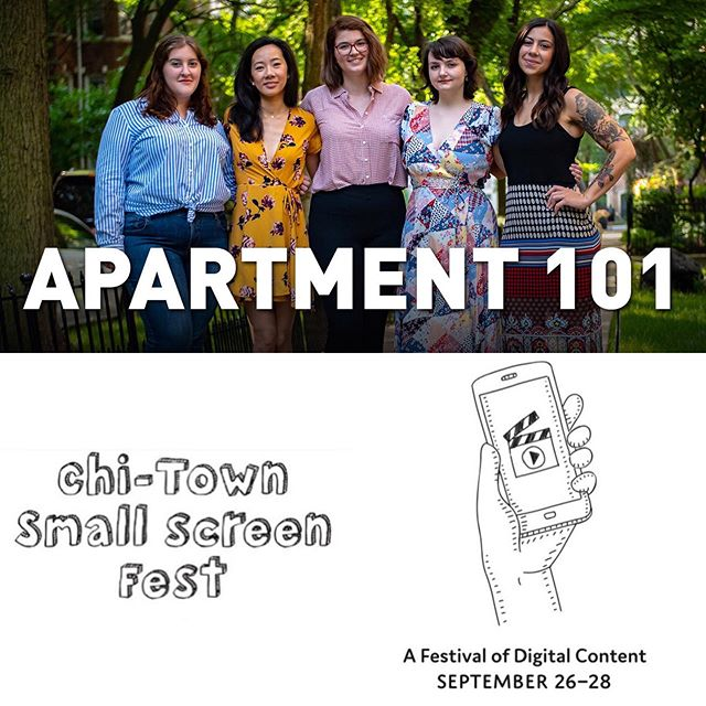 Happy #femalefilmmakerfriday 🙌🏻 We are so excited to announce that two Apartment 101 episodes will be screened at the Chi-Town Small Screen Fest on Friday, September 27th at 7 PM! Both 'It Had to be You' & 'Friday Night, Date Night' were massive undertakings from a production standpoint and we couldn't be more proud for them to represent our little show at the fest! If you're in Chicago, come out to the festival to support! If not, send your love from afar! . . . #apartment101 #webseries #comedy #comedyseries #womeninfilm #femalefilmmakers #womeninfilmandtv #indiefilm #supportindiefilm #independentfilm #chicago #chicagocomedy #chicagofilm #smallscreenfest #filmfestival #screening #professionalfromhereup