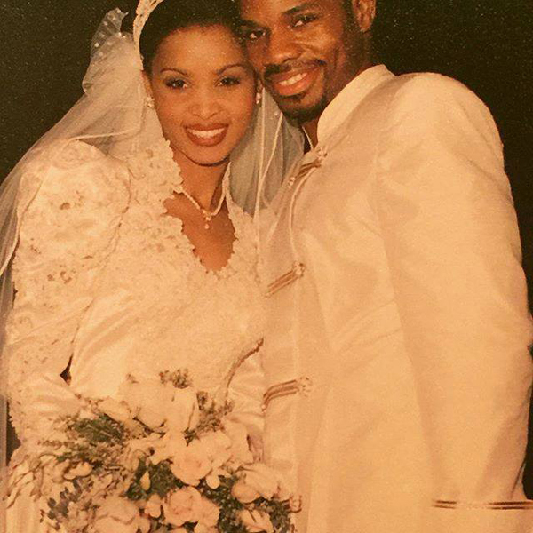Kirk and Tammy Franklin on their wedding day January 20, 1996