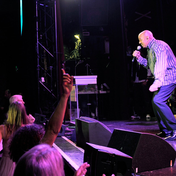 James Ingram performed onstage during the UNICEF Playlist with the A-List celebrity karaoke benefit at El Rey Theatre on May 17, 2011 in Los Angeles, California. (Credit: Charley Gallay/Getty)