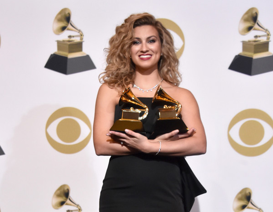 Tori Kelly, winner of Best Gospel/Performance Song for 'Never Alone', and Best Gospel Album for 'Hiding Place', poses in the press room during the 61st Annual GRAMMY Awards at Staples Center on February 10, 2019 in Los Angeles, California. (Credit: Alberto E. Rodriguez/Getty)