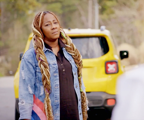 Le'Andria Johnson contemplates leaving the set of 'Fix My Life' (Credit: OWN)