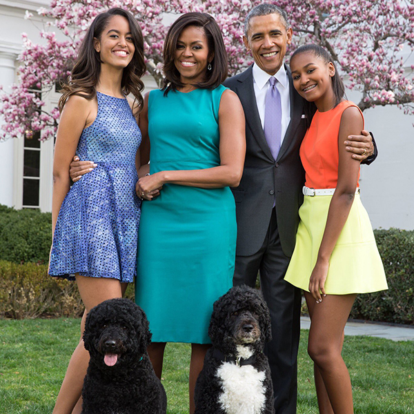 Obama shares a throwback family photo on Twitter as part of his 2019 Easter greeting where he omits Jesus Christ (Credit: Barack Obama Twitter)
