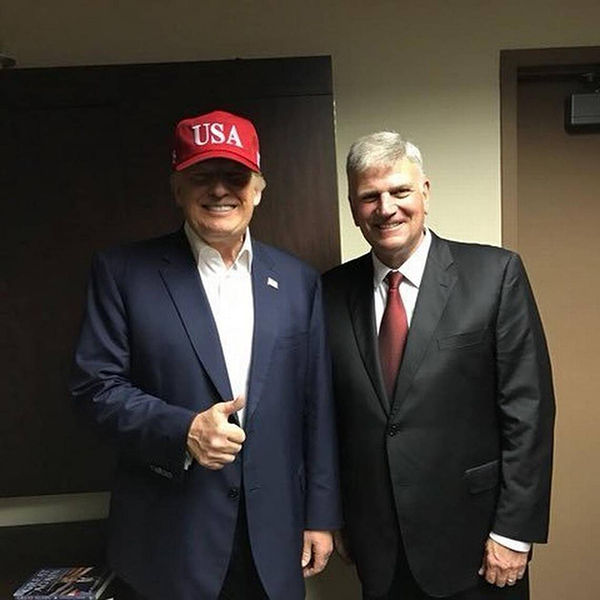 President Trump and Franklin Graham (Credit: Associated Press)