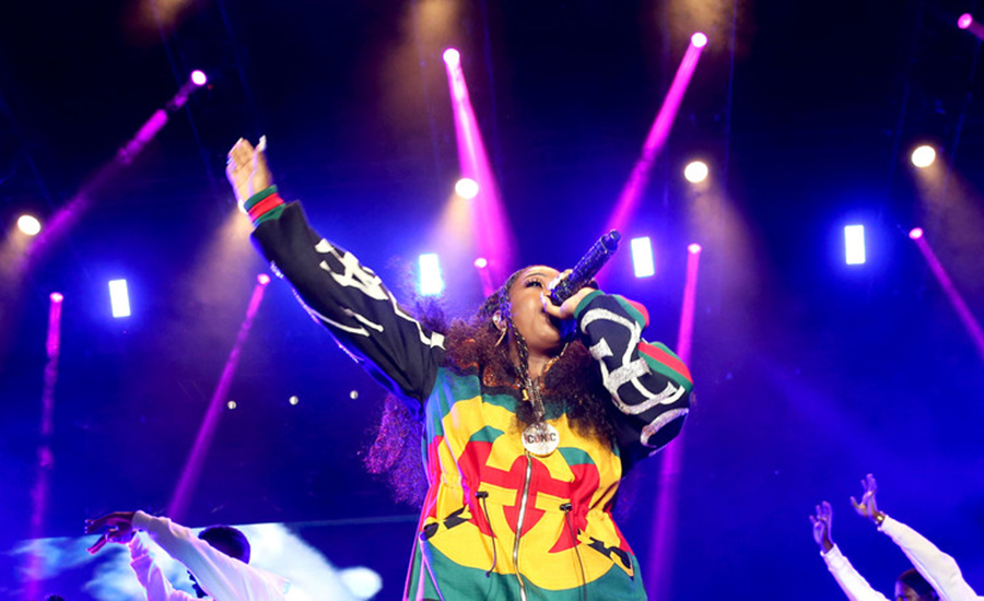 Missy Elliott onstage during the 2018 Essence Festival in New Orleans, Louisiana. (Credit: Getty Images)