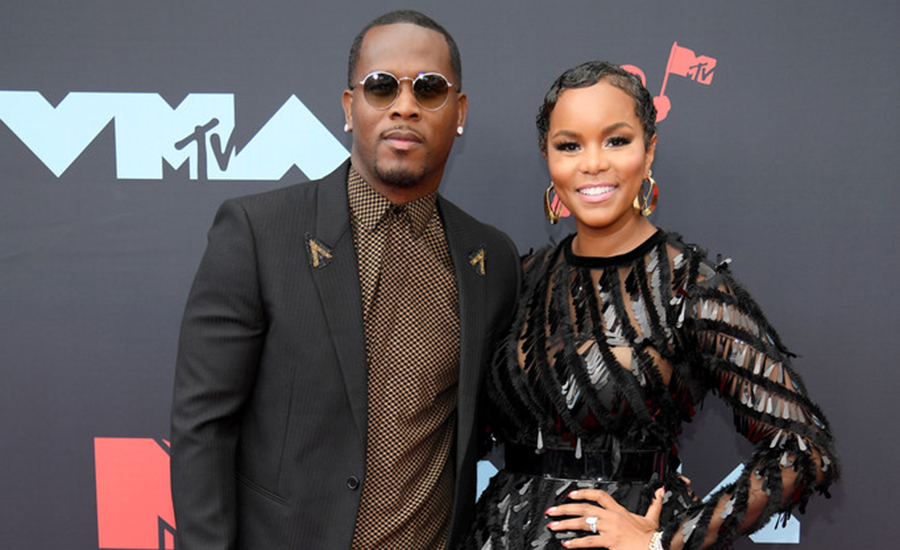 Husband and wife pair, Tommicus Walker and LeToya Luckett attend the 2019 MTV Video Music Awards at Prudential Center on August 26, 2019 in Newark, New Jersey. (Credit: Getty Images)
