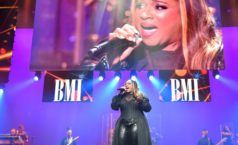 Kierra Sheard tributes singer Brandy at The 2019 BMI R&B/Hip-Hop Awards August 29, 2019 (Credit: Getty)