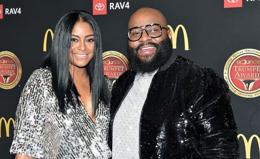 April Daniels and LaShawn Daniels attend the 2019 Bounce Trumpet Awards on January 19, 2019 in Atlanta, Georgia (Credit: Getty)